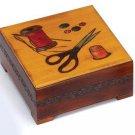 Sewing Box Polish Handmade Linden Wood Keepsake