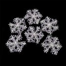 30pcs Classic White Snowflake Ornaments Christmas Holiday Party Home Decor #A
