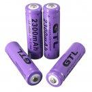 4pcs 3.7V 2300mAh 14500 AA Li-ion Rechargeable Battery For LED Flashlight H5