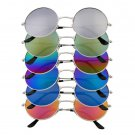 Unisex Women Men Mirror lens Round Glasses Steampunk Sunglasses Vintage Retro HS