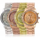 Geneva Bling Crystal Women Girl Unisex Stainless Steel Quartz Wrist Watch   H5
