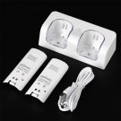 Dual Charger Station 2x 2800mAh Rechargeable Battery for Wii Remote Control CA