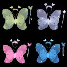 "3Pcs 14x15"" Fairy Angel Butterfly Wings Baby Toddler Child Costume Gift Party H5"