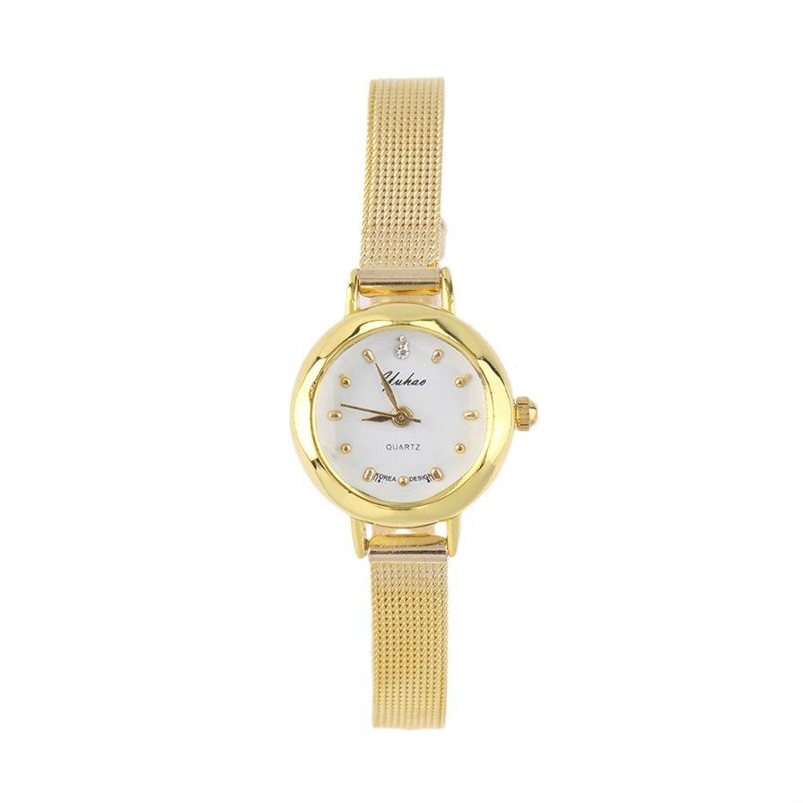 New Fashion Wome Slim Band Round Dial Quartz Analog Dress Wrist Watch Gift CA