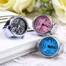 Creative Fashion Steel Round Elastic Quartz Finger Ring Watch Lady Girl Gift HS