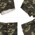 Sexy Women's Camouflage Jeans Short Shorts  Denim Low Waist Hot Pants #A