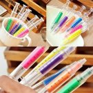 6pcs Cute Stationery Needle Tube Syringe Highlighter Marker Nite Writer Pen #B
