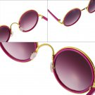 Classic Fashion Round Vintage Retro Style Classical Metal Frames Sunglasses HS