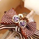 New Fashion Women Lady Flower Rhinestone Ear Stud Elegant Earrings 1 Pair #R