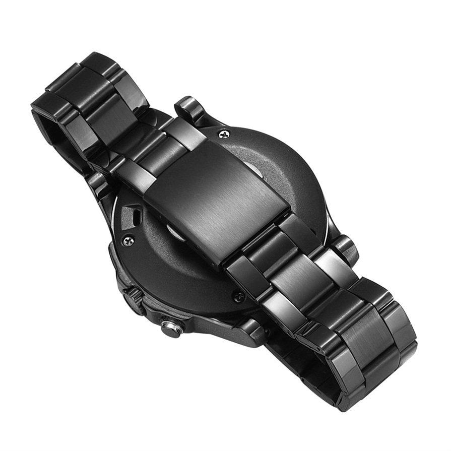 S2 Waterproof Bluetooth Smart Watch Black stainless steel Smart Wristwatch CA