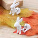 NEW 1 Pair Cute Stereoscopic Rabbit Bunny Impalement Lady Stud Earrings HS