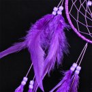 Purple Feathers Wall Hanging Dreamcatcher Campanula Ornament Home Decor H5