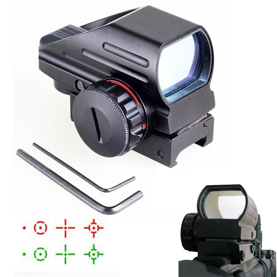Tactical Red Green Dot Holographic Sight 4 Reticle Reflex for Outdoor #*