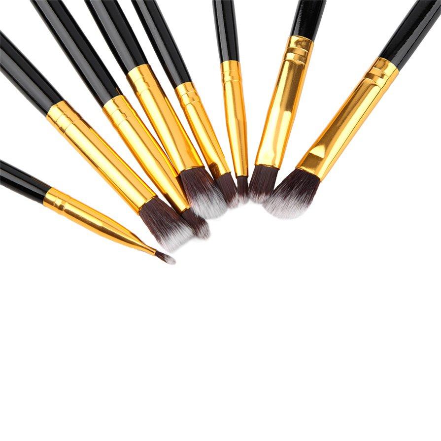 8pcs Makeup Brush Blend Shadow Angled Eyeliner Smoked Bloom Eye Brushes Set H5