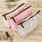 Vintage Flower Floral Pencil Pen bag Cosmetic Makeup Storage bag Case Purse HS