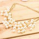 Hot Fashion Women Charm Faux Pearl Tassel Pendant Chain Necklace Jewelry #&
