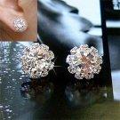 1 Pair Women Fashion Sunflower Shining Crystal Rhinestone Ear Studs Earrings H5