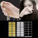 3Sheet Nail Stickers Foil Decor 3 Colors Metal Manicure Black Gold Silver #R