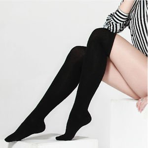 Over The Knee Thigh High Cotton Socks Stockings Leggings Women Ladies Girls #E