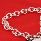 Hot Fashion Women Double Heart Love Charm Chain Bracelets Jewelry Gift #&