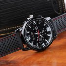 Luxury Military Pilot Aviator Army Outdoor Style Silicone Mens Wrist Watch H2