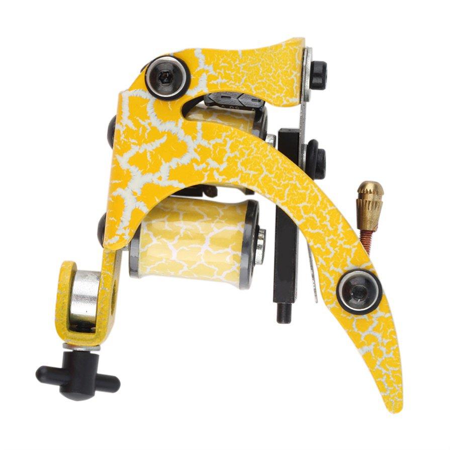 1 pcs Tattoo Machine Gun Shader Liner 8 Wrap Coils For Power Supply #R