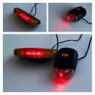 7 LED Bicycle Bike Turn Signal Directional Brake Light Lamp 8 sound Horn HS