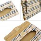 Auto Accessories Holder Paper Napkin Clip-PU Leather Car Sun Visor Tissue Box #E