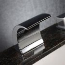 LED 3 pcs Bathtub Basin Sink Waterfall Spout Mixer Tap Chrome Faucet Set #*