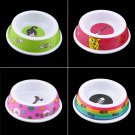 Plastic Pet Dog Cat Puppy Go Slow Eating Feed Bowl Food Water Feeder Dish H5