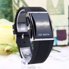 Unisex Sport Digital LED Wrist Watch Day Date Silicone Belt Boys Girls Kid #h