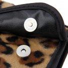 8 PCS Pro Makeup Brush Set Cosmetic Tool Leopard Bag Beauty Brushes HH