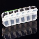 12 Cells Jewelry Pill Nail Art Drug Storage Ring Case Box Organizer H5