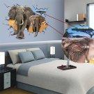Home Decor Wall Sticker Wall Art Removable Decal Elephant 3D Wall Sticker #A
