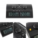 New Master Tournament Chess Set Game Clock Handheld Electronic Board #R