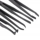 Brand New Plastic Heat Resistant Straight Bend Anti-static Tool Tweezer 7pcs #h