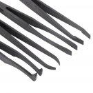 Brand New Plastic Heat Resistant Straight Bend Anti-static Tool Tweezer 7pcs #h