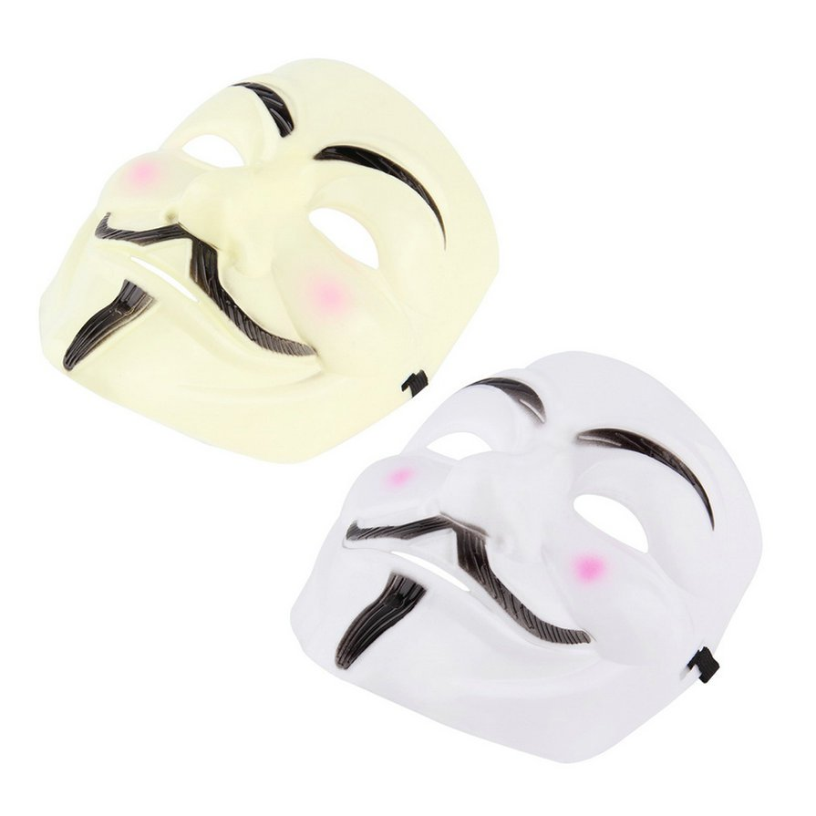 NEW V for Vendetta Anonymous Film Guy Fawkes Face Mask Fancy Halloween Cosplay