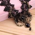 Vintage Lace Gemstone Waterdrop Choker False Collar Necklace Chain Pendant @*