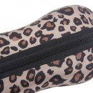 Portable Leopard Zipper Eye Glasses Sunglasses Shell Hard Case Protector Box HS