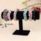 Velvet Bracelet Chain Watch T-Bar Rack Jewelry Hard Display Stand Holder HS