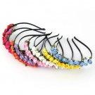Flower Crown Festival Headband Wedding Garland Floral Hairband Accessories  H5