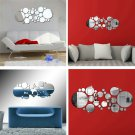3D Circle Pattern Acrylic Mirror Wall Stickers Affixed Home Decoration HS