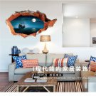 3D Broken Wall Art Mural Decal Senery Wall Stickers Home Art  Decor DIY #A
