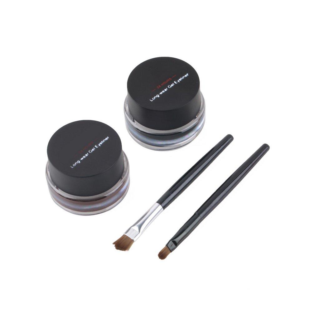 2 in 1 Brown Gel Eyeliner Make Up Waterproof Freeshipping Cosmetics Set H2