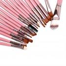 Professional 20 Pieces Brushes Set Powder Eyeshadow Eyeliner Lip Brushes #J
