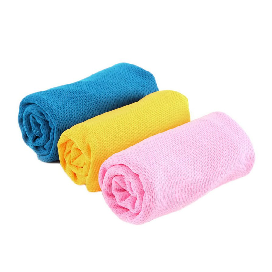 H51pc New Ice Cold Cool Sport Towel Scarf Reuseable Cycling Jogging Golf H5