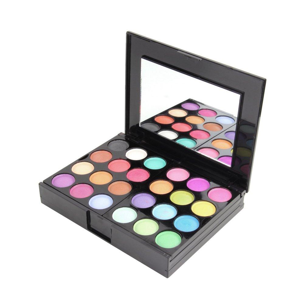 Make Up Palette Set Eyeshadow Lip Gloss Foundation Powder Blusher Puff Tool HP
