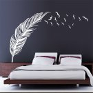 Wall Sticker Vinyl Birds Flying Feather Bedroom Home Decal Mural Art Decor HH
