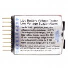 1-8S Lipo/Li-ion/Fe Battery Voltage 2IN1 Tester Low Voltage Buzzer Alarm CA